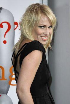 Natasha Bedingfields layered, blonde hairstyle