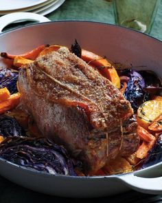 Roast Beef with Cabbage, Squash, and Carrots Recipe
