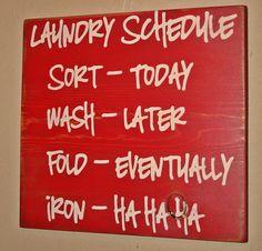 Ironing...hahahaha...