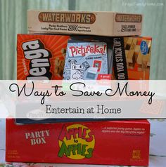 Entertain at Home to Save