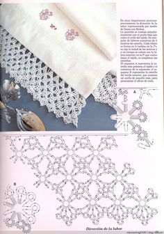 Crochet lace #06 ♥LCE♥ with diagram