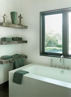 Love these shelves for the master bath