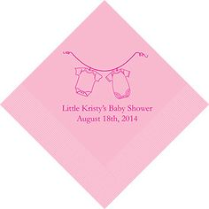 Baby Shower Printed Napkins $9.58, baby shower napkins, baby shower decorations