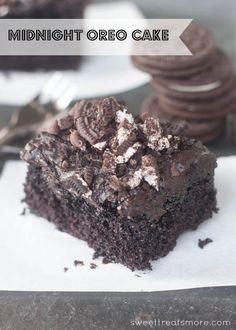 Midnight Oreo Cake    Sweet Treats and More