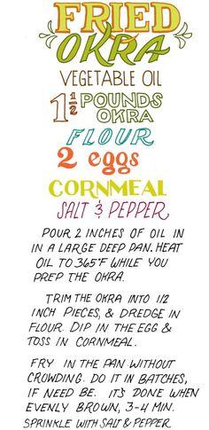 Fried Okra Recipe -- Yum! | illustrated-bites.wordpress.com