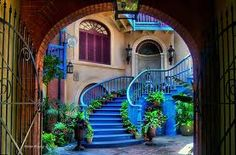 new orleans, stairway, color, staircase design, hous, place, garden, inspiring pictures, blues