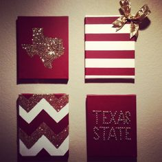 University Wall Decor Bundle 4 by TexasClass on Etsy, $35.00       This would be so cute but for Ball state