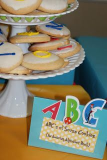 ABC/123 Cookies for Dr. Seuss party