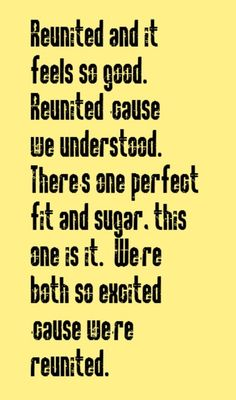 Reunited - song lyrics, song quotes, music lyrics, music quotes, songs ...