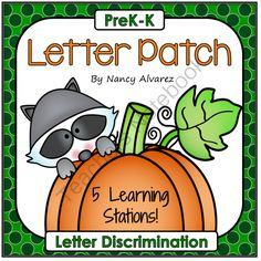 Letter Patch  from Teaching With Nancy  on TeachersNotebook.com -  (84 pages)  - Welcome to Teaching with Nancy!  These 5 fall pumpkin activities will strengthen your students' ability to look at letter symbols critically and assist them in becoming proficient at recognizing disti