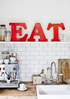 Simple kitchen decor- EAT