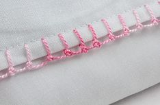 Knot-stitch edging tutorial.