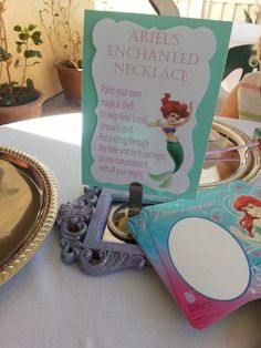 Little Mermaid inspired party game/activity.  Party styled by La-D-da Celebrations.