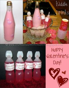 Kids Valentine's Day drink ideas