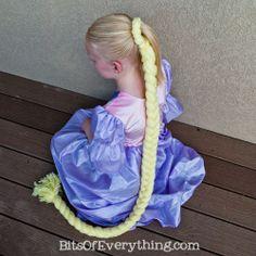 rapunzel yarn hair piece