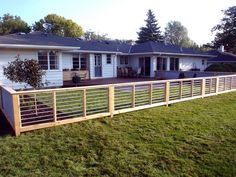 Possible fence idea. (if we needed low profile fence) Maybe for Ernie or to fence front of house.