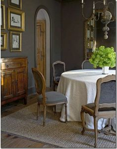 Gray and gold dining rooms, wall colors, design bedroom, bedroom decor, dark walls, grey wall, gold accent, gray wall, bedroom designs