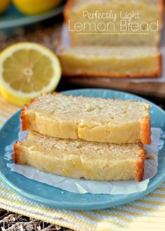 Glazed Light Lemon Bread