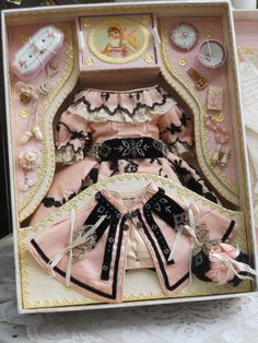 French Poupee Costume Presentation in Box
