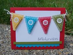 Pennant Parade stamp set and Petite Pennants punch.
