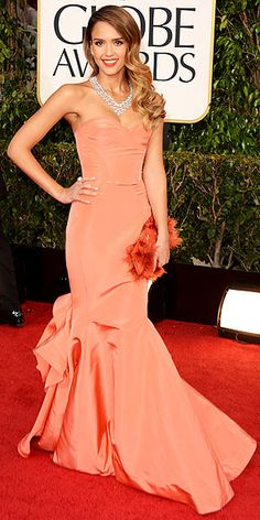In my favorite color, I think Jessica Alba killed it. (Golden Globes 2013)