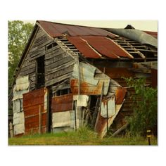 old patchwork barn