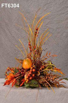 Fall floral arrangements on pinterest fall flower for Fall fake flower arrangement ideas