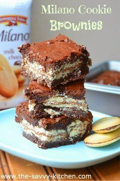 Milano Cookie Brownies #247moms