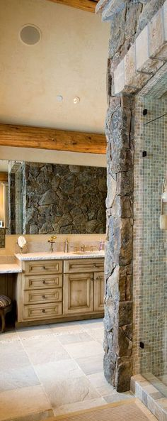Rocky Mountain | rustic bathroom