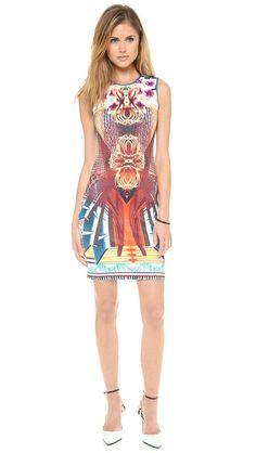 Clover Canyon Furniture Weave Sleeveless Dress. #fashion #dress #clothes #minidress #pattern #instyle #moda #fashiondress #adorable #women #design #unique