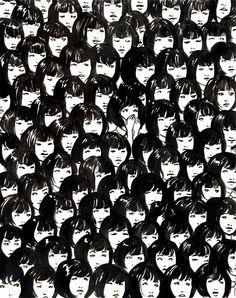 ninety one good chinese girls - giclee art print by Jennifer Hom.