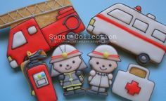 fireman cookies by JILL's Sugar Collection, via Flickr