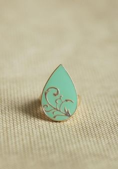 teal and gold ring.  #jewelry
