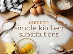 Do you know your kitchen substitutions?