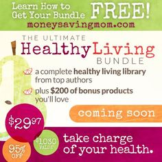 The Ultimate Healthy Living Bundle Sale — a sale offering over $1,000 worth of products for one low, low price — is going to be available for 5 days only in the next few weeks.  And they are offering something really special this time around: You can get all of the resources in this bundle + the really fun bonus offers for FREE if you refer 10 friends to sign up for the Ultimate Bundles email list! Click through for more details...