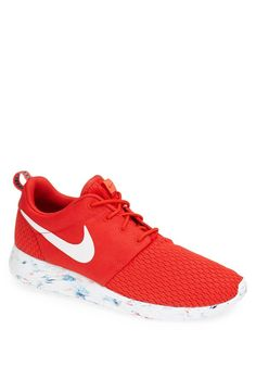 Cool red Roshe running shoes for the guys.