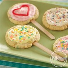 Cookie Pops - Put in a vase filled with jelly beans for a great edible centerpiece