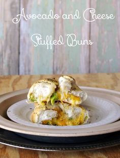 Avocado and Cheese Stuffed Buns