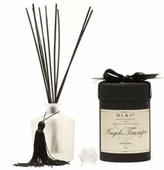 French Tuberose Angels Trumpet by D.L. & Co Aromatherapy Perfume Home Fragrance Diffuser 7 oz by Aromatherapy Heaven. $80.00. Packaging: The Box - Stitched in Burmese Silk, these carefully crafted containers recall the boxes that held cufflinks and collars in the glory days gone by. Your candle or diffusers are enclosed in a black satin ribbon imported from France, chosen for its exquisite sheen and weight.. Size: 7oz / Will last for 6 months. This sweet and earthy ble...