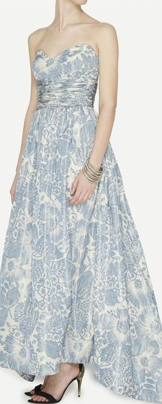 floral gown, gown jagladi, print
