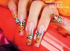 en uñas (nails): Divertido collage con gran contraste Trabajo de ...