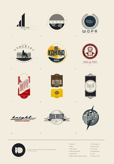 "I.D. Series  Logo designs from a personal and fictional project by Justin Van Genderen. I bet you know some of the companies.    ""A fresh look at different companies, schools, organizations etc. from pop culture.""    via: WE AND THE COLORFacebook // Twitter // Google+ // Pinterest"