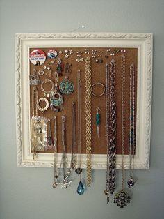 hanging jewelry frame