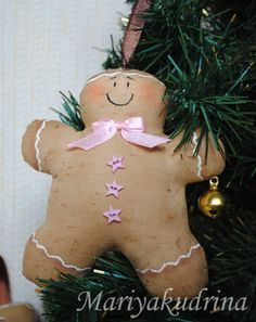 Christmas gingerbread man :) - Fair Masters - handmade, handmade