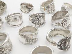 Spoon rings - how very Boho chic
