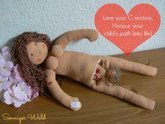 Maria parto por cesarea http://crianzacreativa.com/2013/09/01/cesarea-y-otras-heridas-de-la-tierra | Flickr - Photo Sharing!  cloth rag doll
