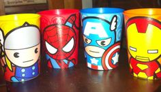 New marvel superhero cups!!