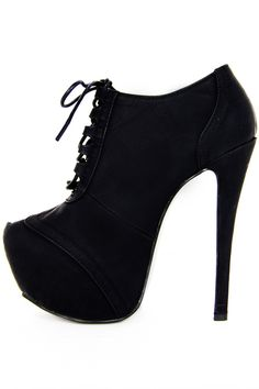 ANKLE HIGH HEEL BOOT - Black