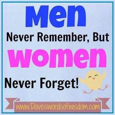 #men #women #remember #memory #forget #funny #truth