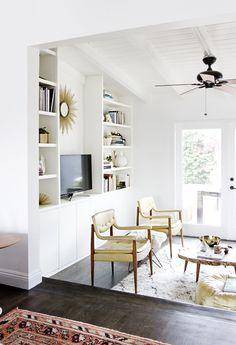 decor, builtin shelv, diy builtin, chairs, smitten studio, ceilings, hous, diy built in shelves, design